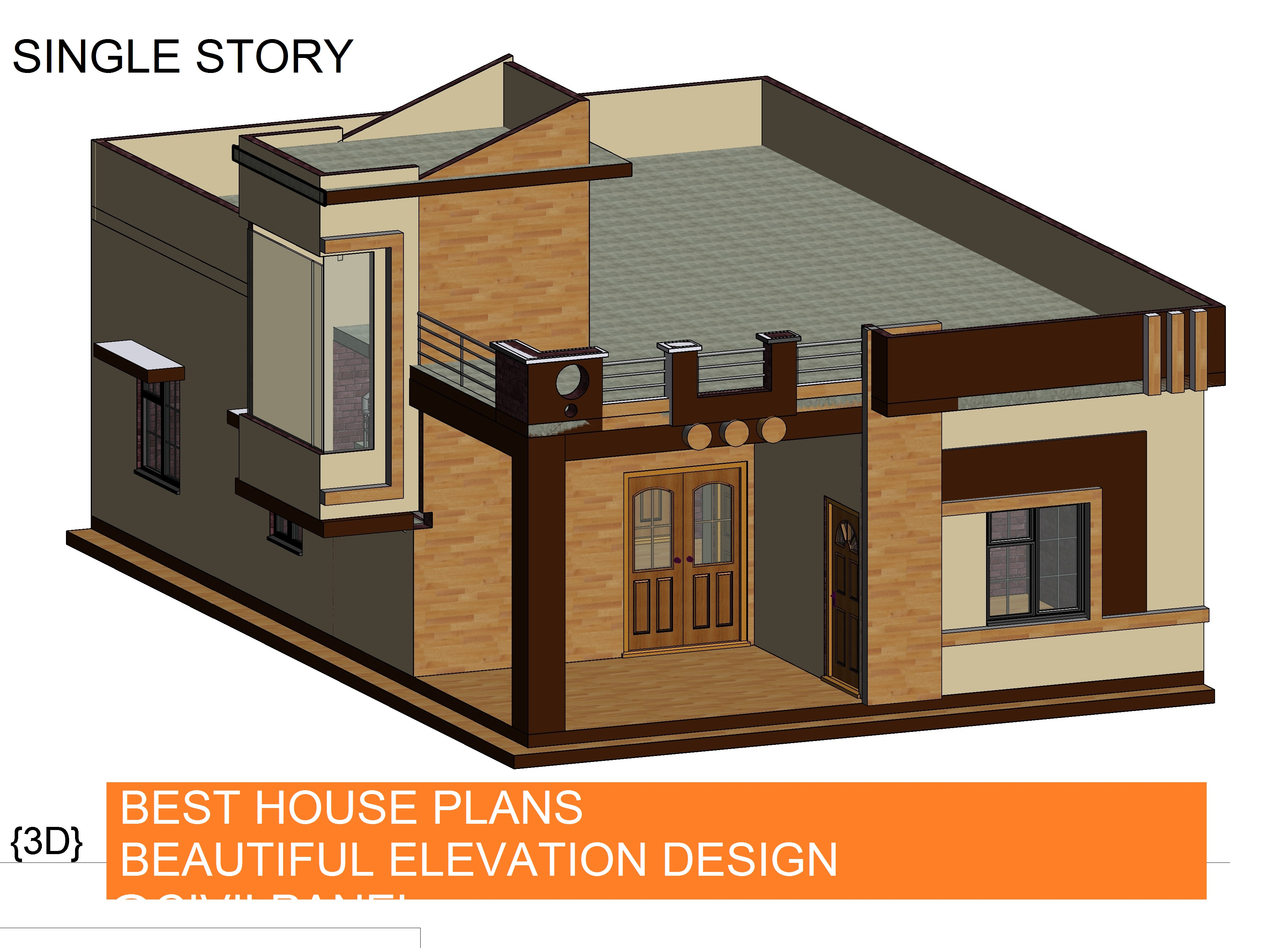28x40 HOUSE PLANS WITH BEAUTIFUL ELEVATION DESIGN